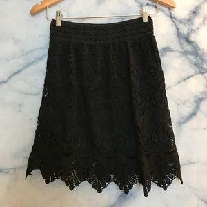 Black feminine crochet skirt